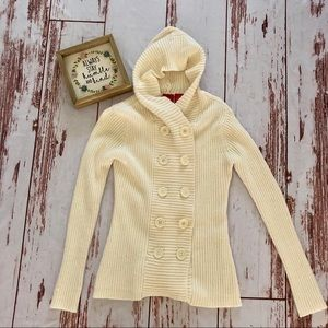 Mossimo Button Hooded Sweater Cardigan
